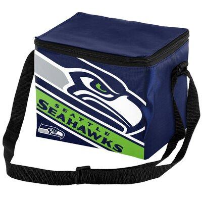 6 Can Big Logo Stripe Softsided Cooler NFL Team: Seattle Seahawks