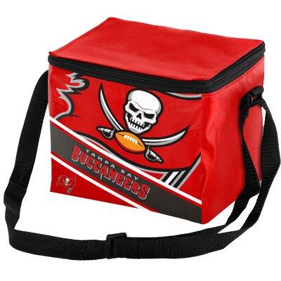 6 Can Big Logo Stripe Softsided Cooler NFL Team: Tampa Bay Buccaneers