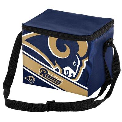 6 Can Big Logo Stripe Softsided Cooler NFL Team: Los Angeles Rams