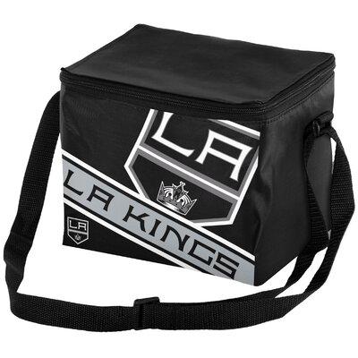 6 Can NHL Big Logo Stripe Picnic Cooler NHL Team: Los Angeles Kings