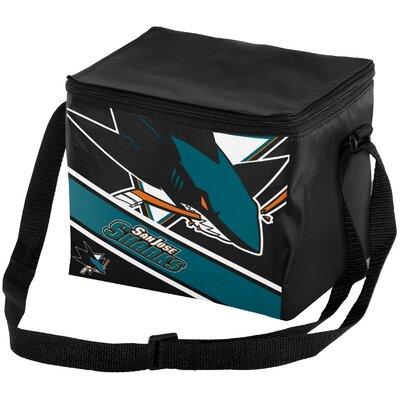 6 Can NHL Big Logo Stripe Picnic Cooler NHL Team: San Jose Sharks