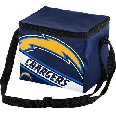 6 Can Big Logo Stripe Softsided Cooler NFL Team: San Diego Chargers