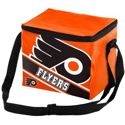 6 Can NHL Big Logo Stripe Picnic Cooler NHL Team: Philadelphia Flyers