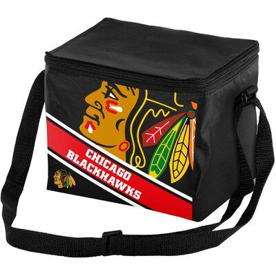 6 Can NHL Big Logo Stripe Picnic Cooler NHL Team: Chicago Blackhawks