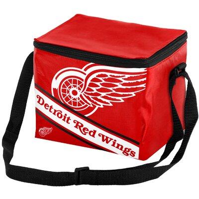 6 Can NHL Big Logo Stripe Picnic Cooler NHL Team: Detroit Red Wings