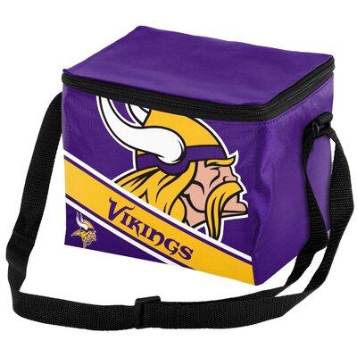 6 Can Big Logo Stripe Softsided Cooler NFL Team: Minnesota Vikings