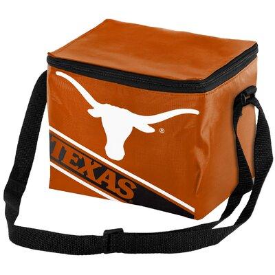 6 Can NCAA Big Logo Stripe Picnic Cooler NCAA Team: University of Texas Longhorns
