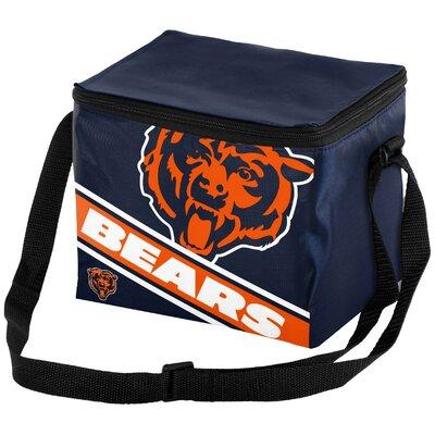 6 Can Big Logo Stripe Softsided Cooler NFL Team: Chicago Bears
