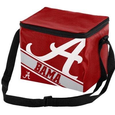 6 Can NCAA Big Logo Stripe Picnic Cooler NCAA Team: University of Alabama Crimson Tide