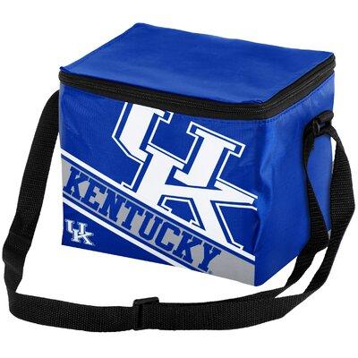 6 Can NCAA Big Logo Stripe Picnic Cooler NCAA Team: University of Kentucky Wildcats