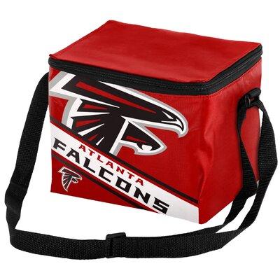6 Can Big Logo Stripe Softsided Cooler NFL Team: Atlanta Falcons