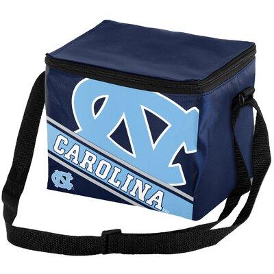 6 Can NCAA Big Logo Stripe Picnic Cooler NCAA Team: University North Carolina Tar Heels