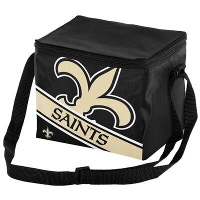 6 Can Big Logo Stripe Softsided Cooler NFL Team: New Orleans Saints