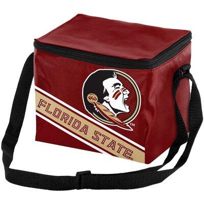 6 Can NCAA Big Logo Stripe Picnic Cooler NCAA Team: Florida State Seminoles