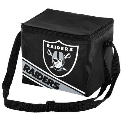 6 Can Big Logo Stripe Softsided Cooler NFL Team: Oakland Raiders