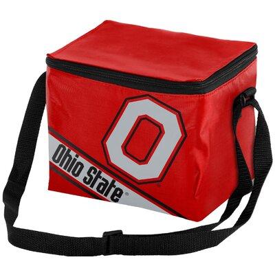 6 Can NCAA Big Logo Stripe Picnic Cooler NCAA Team: Ohio State Buckeyes