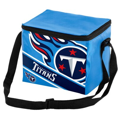 6 Can Big Logo Stripe Softsided Cooler NFL Team: Tennessee Titans