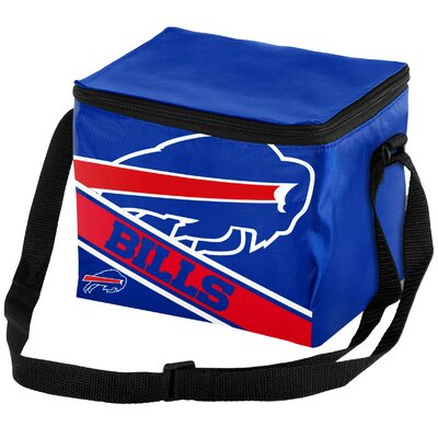 6 Can Big Logo Stripe Softsided Cooler NFL Team: Buffalo Bills