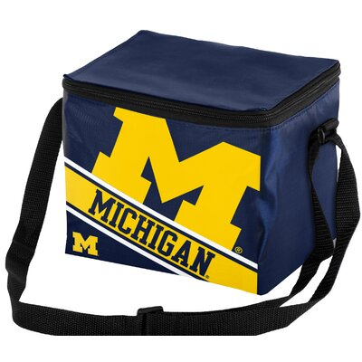 6 Can NCAA Big Logo Stripe Picnic Cooler NCAA Team: University of Michigan Wolverines