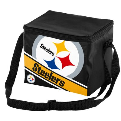 6 Can Big Logo Stripe Softsided Cooler NFL Team: Pittsburgh Steelers