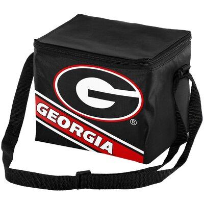 6 Can NCAA Big Logo Stripe Picnic Cooler NCAA Team: University of Georgia Bulldogs