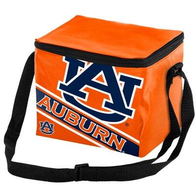 6 Can NCAA Big Logo Stripe Picnic Cooler NCAA Team: Auburn University Tigers