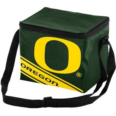 6 Can NCAA Big Logo Stripe Picnic Cooler NCAA Team: University of Oregon Ducks