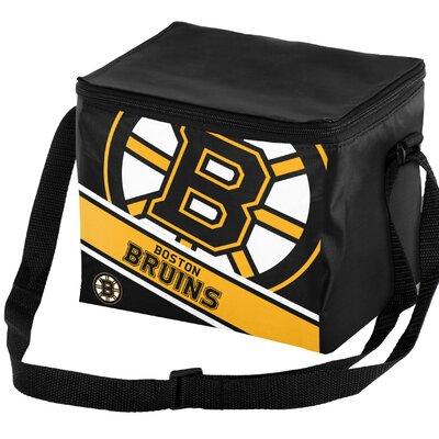 6 Can NHL Big Logo Stripe Picnic Cooler NHL Team: Boston Bruins