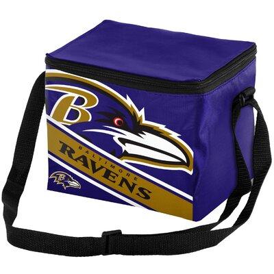 6 Can Big Logo Stripe Softsided Cooler NFL Team: Baltimore Ravens