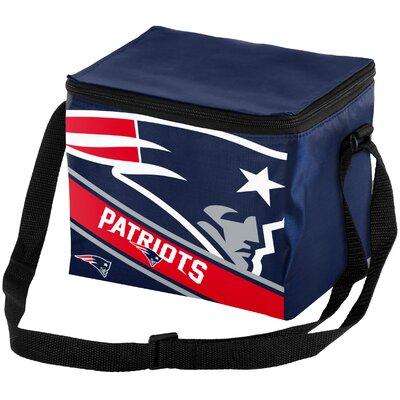 6 Can Big Logo Stripe Softsided Cooler NFL Team: New England Patriots