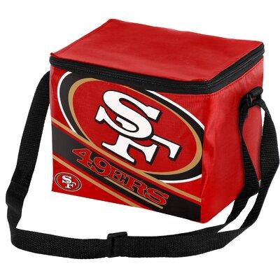 6 Can Big Logo Stripe Softsided Cooler NFL Team: San Francisco 49Ers