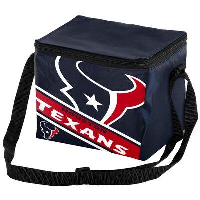 6 Can Big Logo Stripe Softsided Cooler NFL Team: Houston Texans