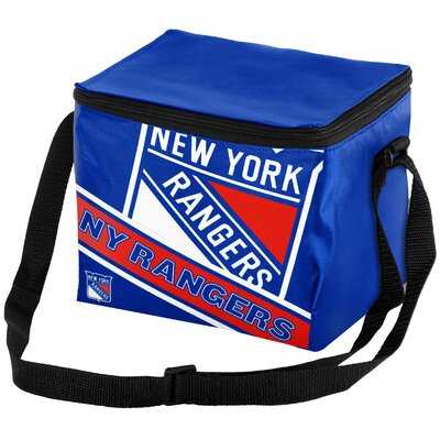 6 Can NHL Big Logo Stripe Picnic Cooler NHL Team: New York Rangers