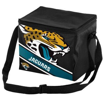 6 Can Big Logo Stripe Softsided Cooler NFL Team: Jacksonville Jaguars