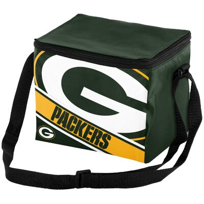 6 Can Big Logo Stripe Softsided Cooler NFL Team: Green Bay Packers