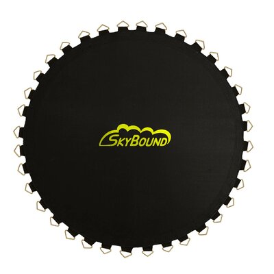 """Jumping Surface for Trampoline with 84 V-Rings for 6.5"""" Springs Size: 10.5', Color: Black"""