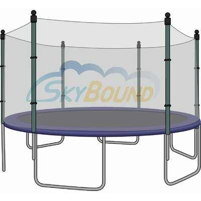 """Round Trampoline Net Using 4 Poles or 2 Arches Size: 144"""" W x 144"""" D"""