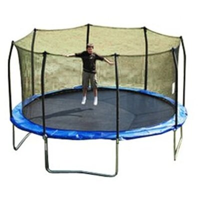 SKYBOUND 15' Enclosure Trampoline Replacement Net Using 8 Straight Poles