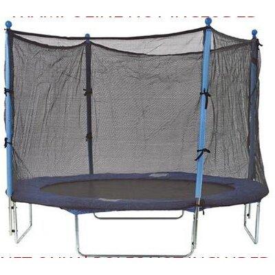 8' Round Trampoline Net Using 4 Poles