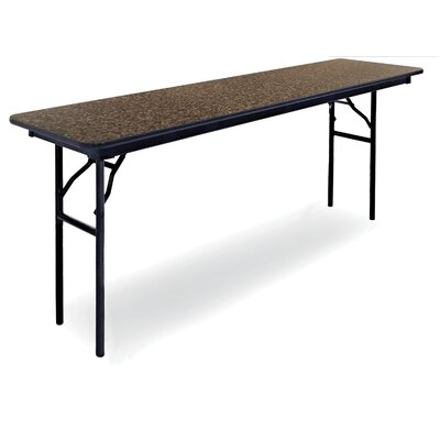 "Rectangular Folding Table (Set of 5) Size: 30"" H x 18"" W x 72"" D, Finish: Blackstar Granite"
