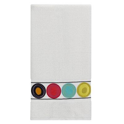 Dot Swirl 100% Cotton Bath Towel Color: Bright