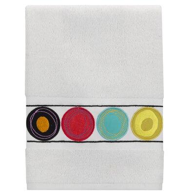 Dot Swirl 100% Cotton Hand Towel Color: Bright