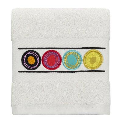 Dot Swirl 100% Cotton Washcloth Color: Bright