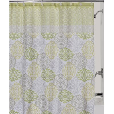 Gypsy Polyester Shower Curtain Color: Green