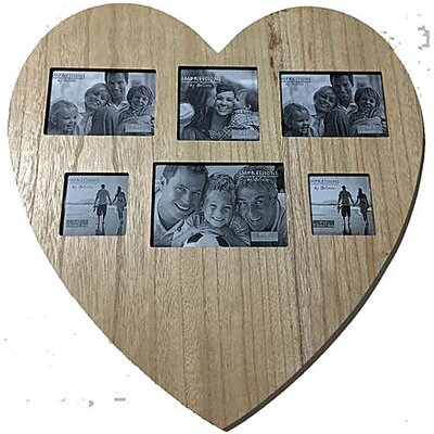 Juliana Impressions Wooden Heart Shape Picture Frame