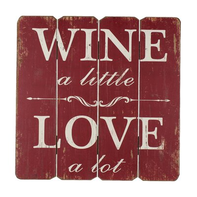 Juliana Impressions Wine and Love Typography Plaque