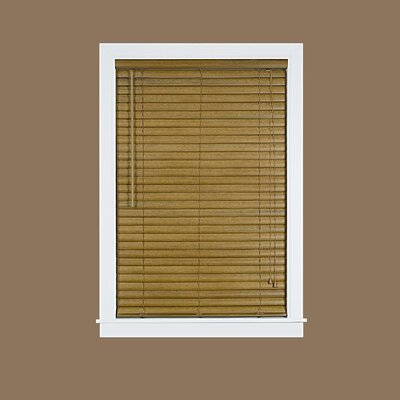 "Venetian Blind Color: Woodtone, Size: 38.5"" W x 64"" L"
