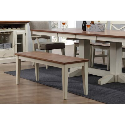Yvonne Dining 2 Tone Bench Color: Antique White