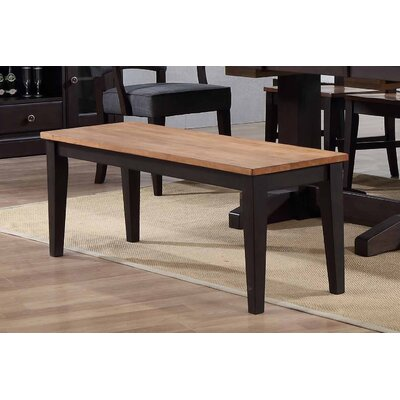 Yvonne Dining 2 Tone Bench Color: Black Oak