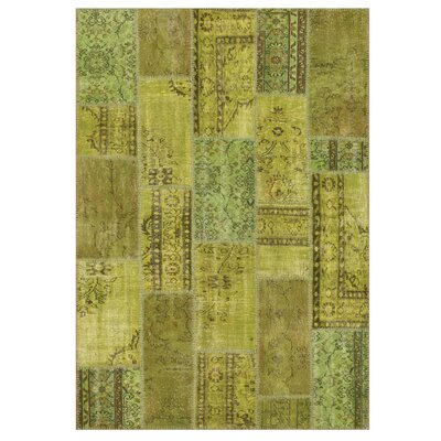 Angelo Up-Cycle Hand-Woven Green Area Rug